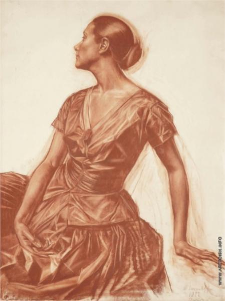 Portrait of Salome Andronnikova, 1922 - Alexandre Jacovleff