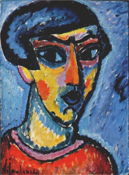 Head in blue - Alexej von Jawlensky