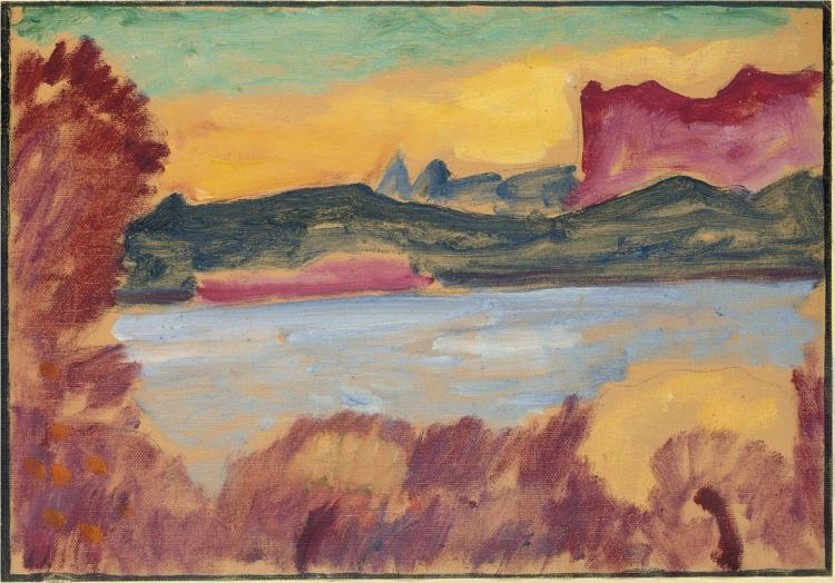 Landschaft, Genfer See, 1915 - Alexej von Jawlensky
