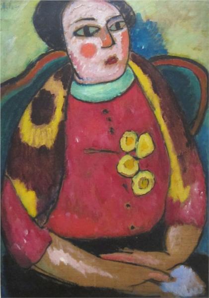 Seated Woman, 1911 - Alexej von Jawlensky