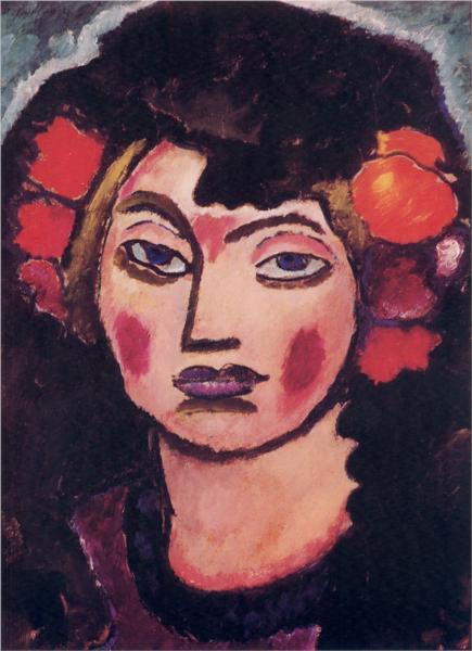Spanish Girl, 1912 - Алексей фон Явленский