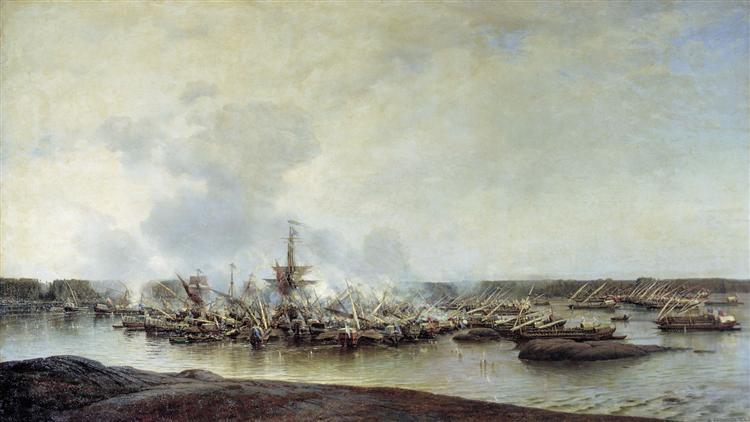 The Battle of Gangut, July 27, 1714 - Alexey  Bogolyubov