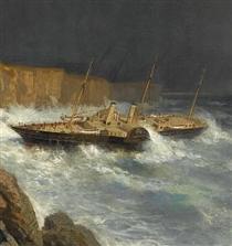 Wreck of Livadia (fragment) - Alexey  Bogolyubov