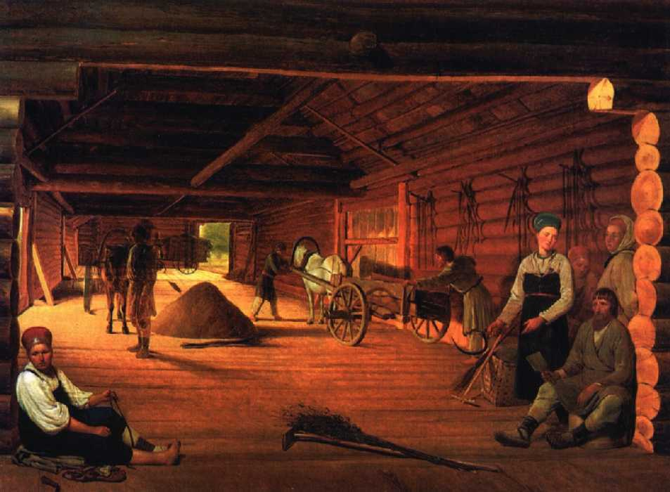 Threshing Floor, 1821   1822   Alexey Venetsianov