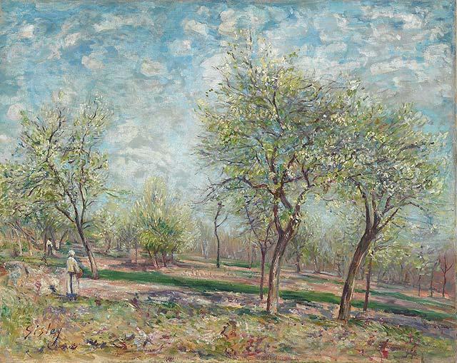 Apple Trees in Bloom, 1880 - Alfred Sisley