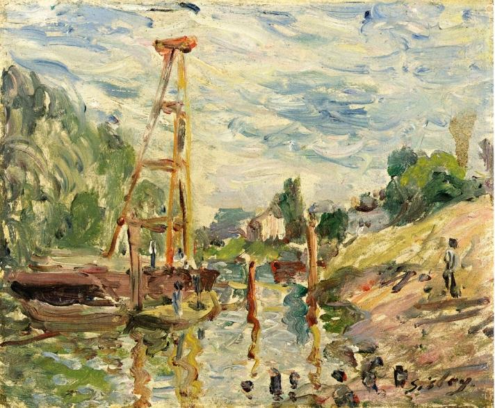 Bateau de Charge sur le Loing, 1880 - Alfred Sisley