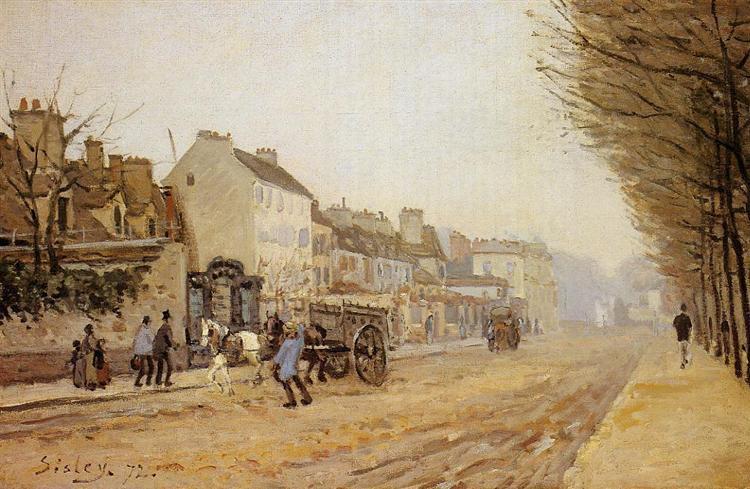 Boulevard Heloise, Argenteuil, 1872 - Alfred Sisley
