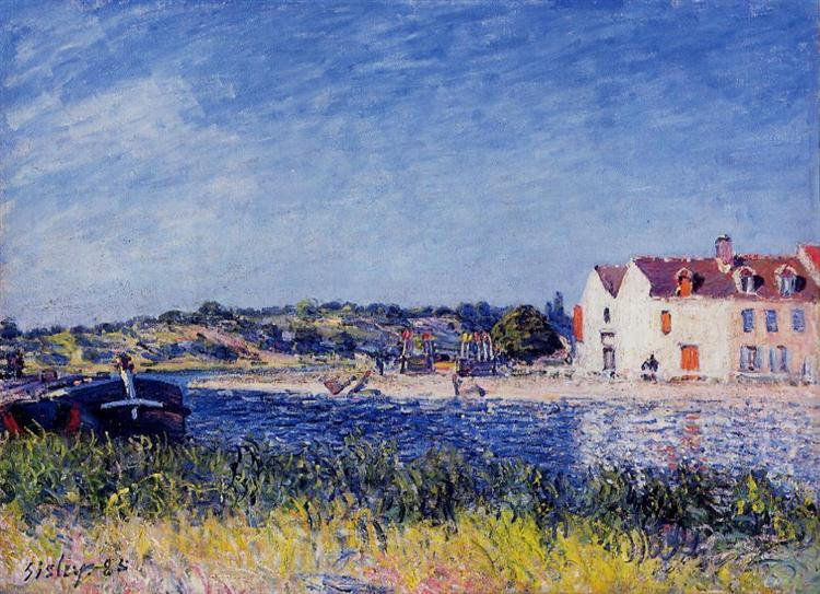 Confluence of the Seine and the Loing, 1885 - Alfred Sisley