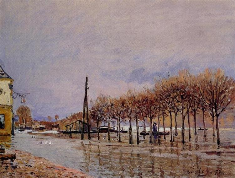 Flood at Port Marly, 1872 - Alfred Sisley