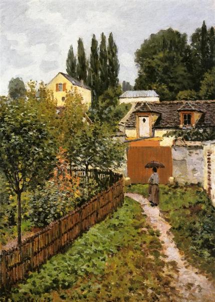 Garden Path in Louveciennes (Chemin de l Etarch), 1873 - Alfred Sisley