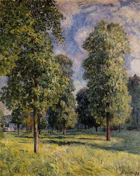 Landscape at Sevres, 1878 - Alfred Sisley