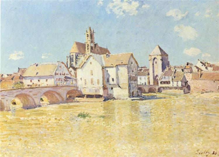 Pont de Moret dans le soleil du matin, 1888 - Alfred Sisley