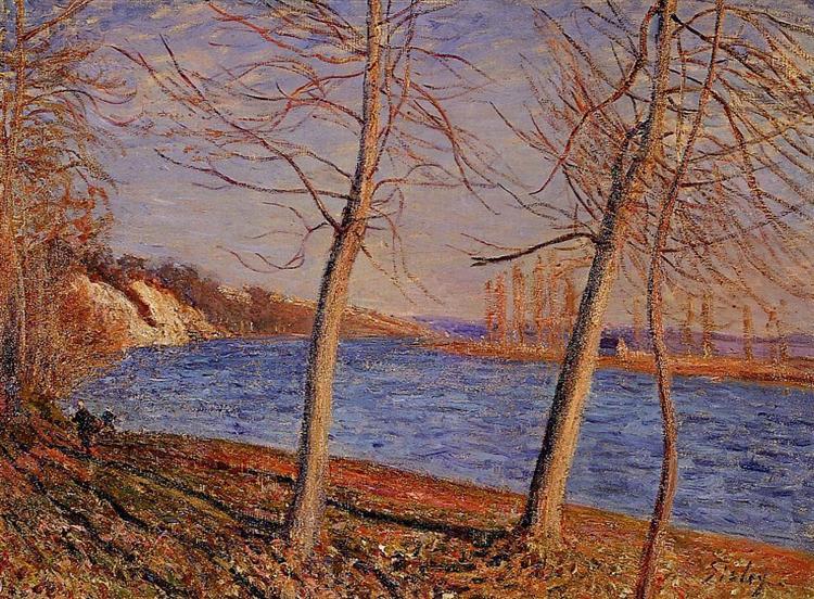 Riverbank at Veneux, 1881 - Alfred Sisley