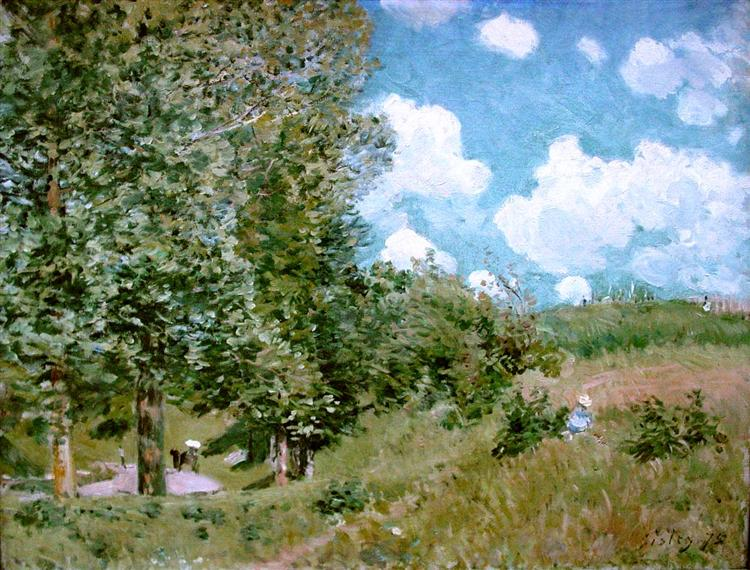 Road from Versailles to Saint Germain, 1875 - Alfred Sisley
