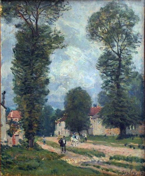Route to Versailles, 1875 - Alfred Sisley