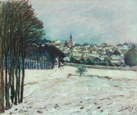 Snow at Marly Le Roi, 1875 - Alfred Sisley