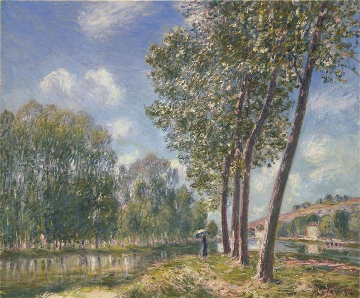 Spring Sunshine on the Loing, 1892 - Alfred Sisley