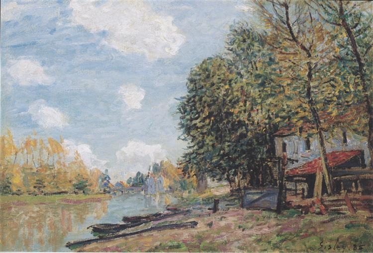 The banks of the Loing Moret, 1885 - Alfred Sisley
