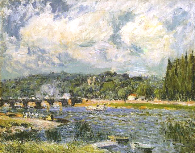 The Bridge of Sevres, 1877 - Alfred Sisley