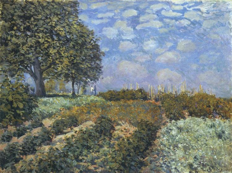 The Fields, 1874 - Alfred Sisley
