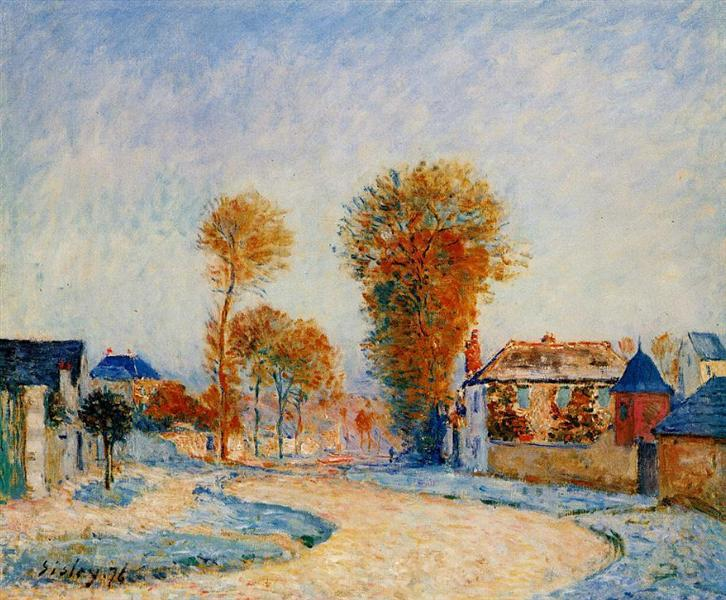 The First Hoarfrost, 1876 - Alfred Sisley