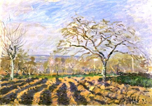 The Furrows, 1873 - Alfred Sisley