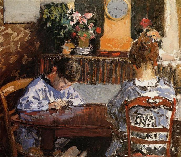 The Lesson, 1874 - Alfred Sisley