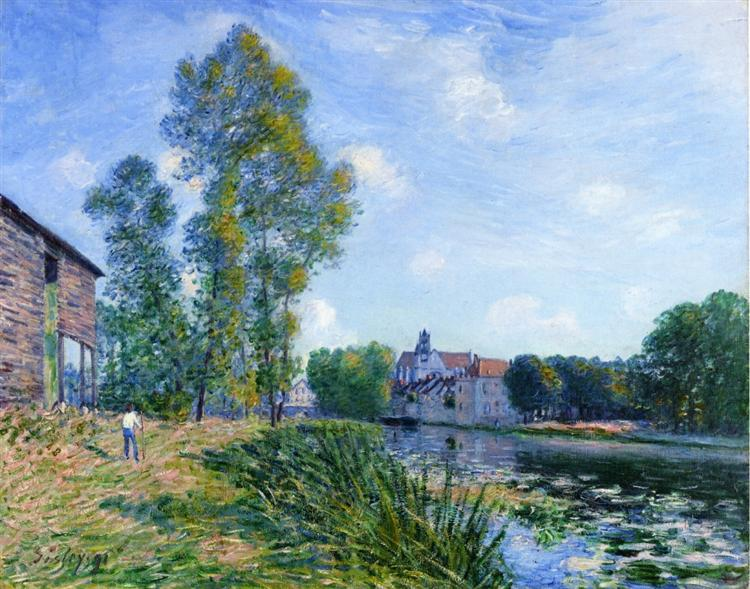 The Loing at Moret in Summer, 1891 - Alfred Sisley