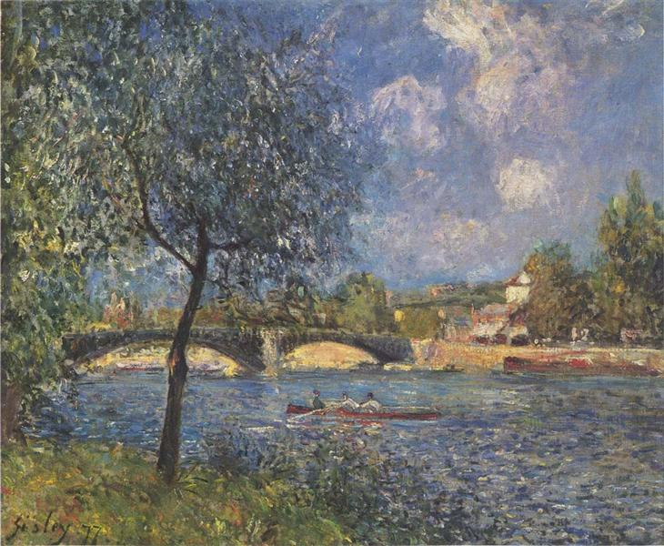 The Rowers, 1877 - Alfred Sisley