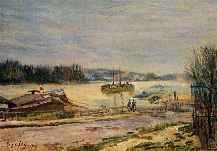 The Seine near Saint Cloud, High Water, 1879 - Alfred Sisley