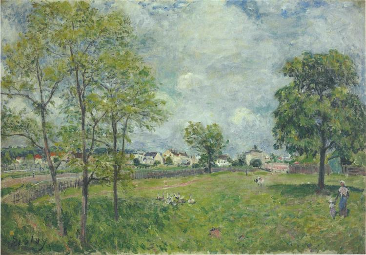 View of the Village, 1885 - Alfred Sisley