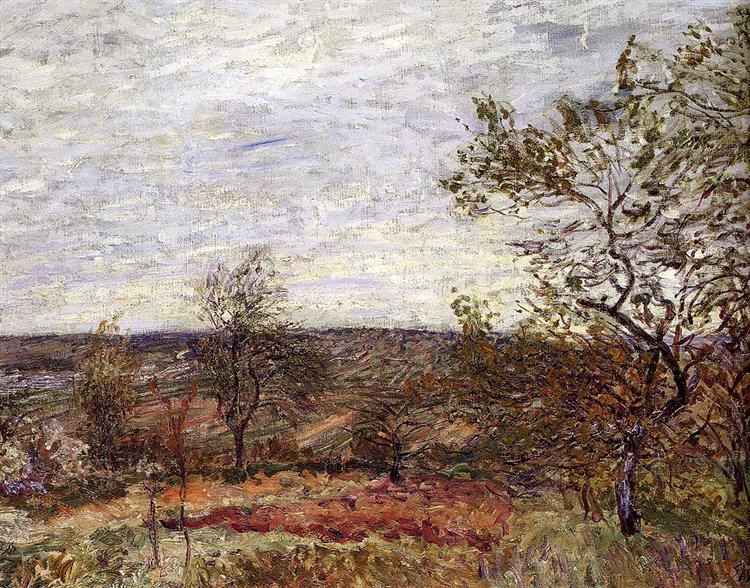 Windy Day At Veneux, 1882 - Alfred Sisley
