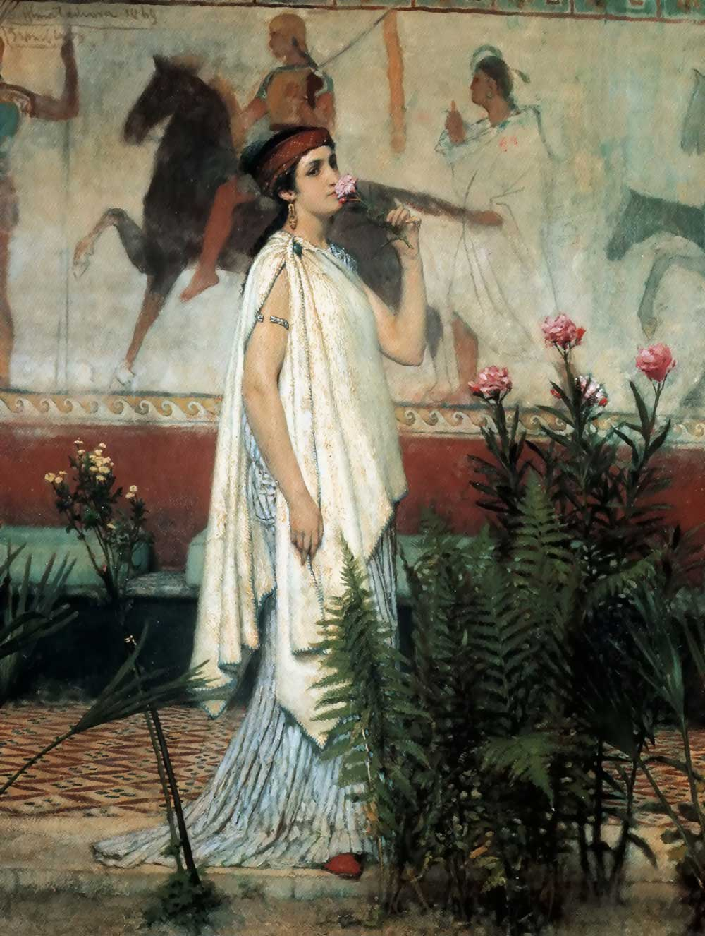 A greek woman, 1869 - Sir Lawrence Alma-Tadema