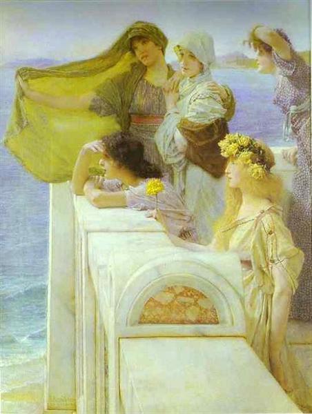 At Aphrodite's Cradle, 1908 - Sir Lawrence Alma-Tadema