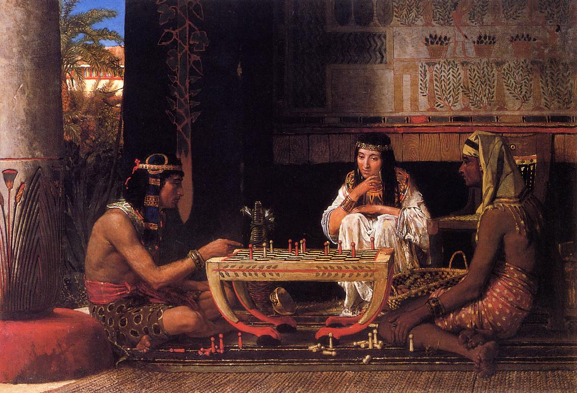 Egyptian Chess Players, 1865