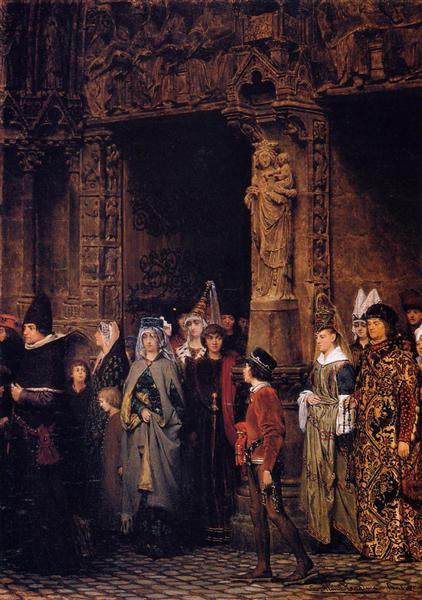 Церковная жизнь в 15 столетии, 1864 - Лоуренс Альма-Тадема