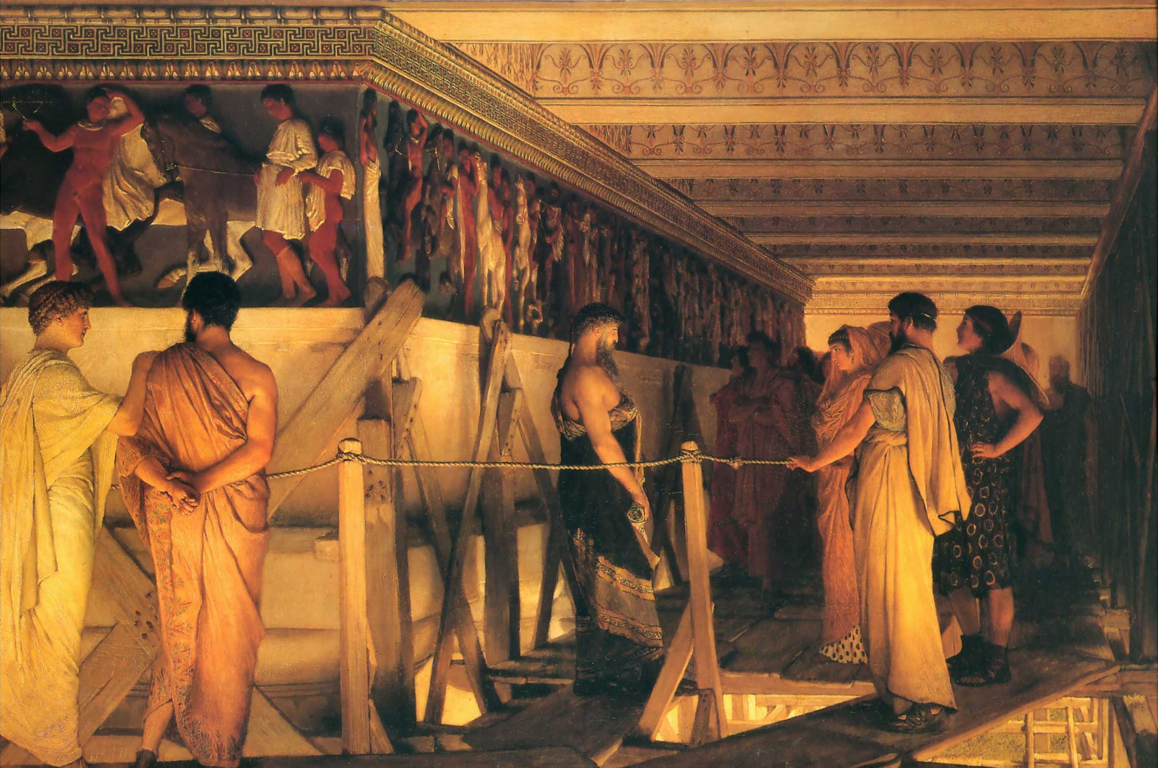 Phidias Showing the Frieze of the Parthenon to his Friends, 1868