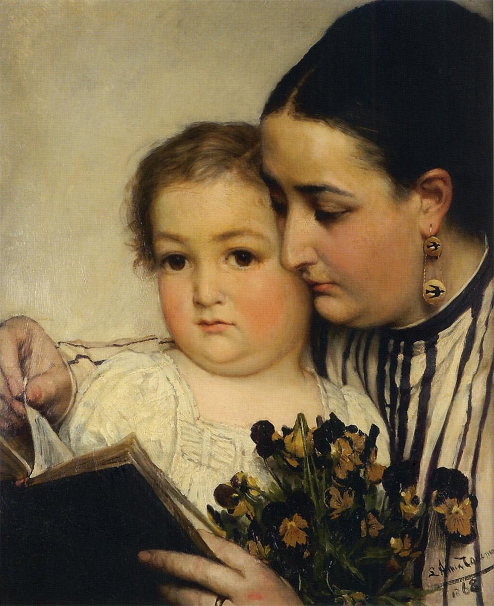 Portrait of Mme Bonnefoy and M. Puttemans, 1867