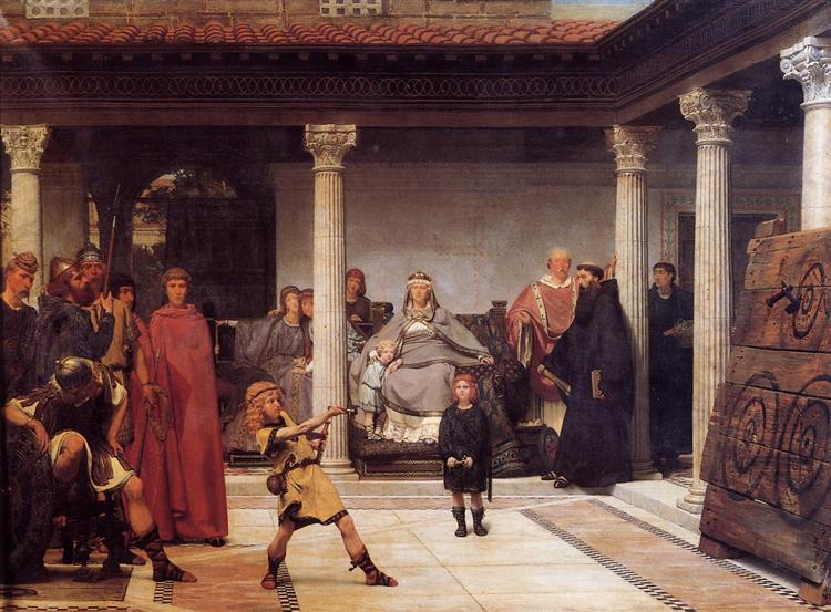 Обучение детей Хлодвига, 1861 - Лоуренс Альма-Тадема