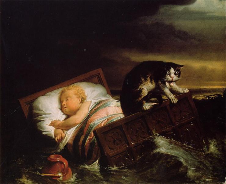 Наводнение в Бисбосе в 1421 году, 1856 - Лоуренс Альма-Тадема