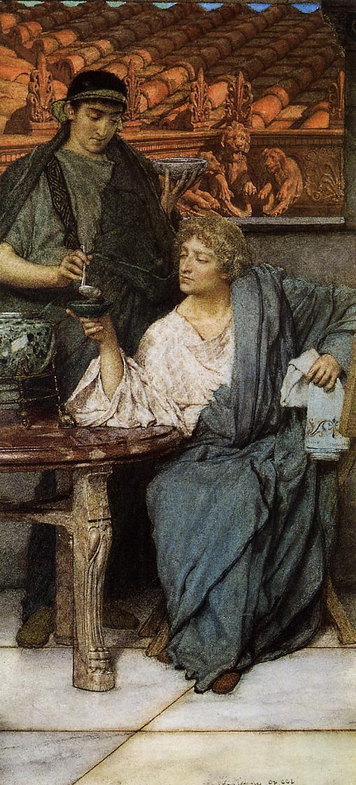 The Roman Wine Tasters, 1861