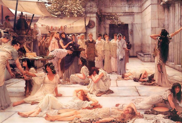 Женщины Амфисы, 1887 - Лоуренс Альма-Тадема