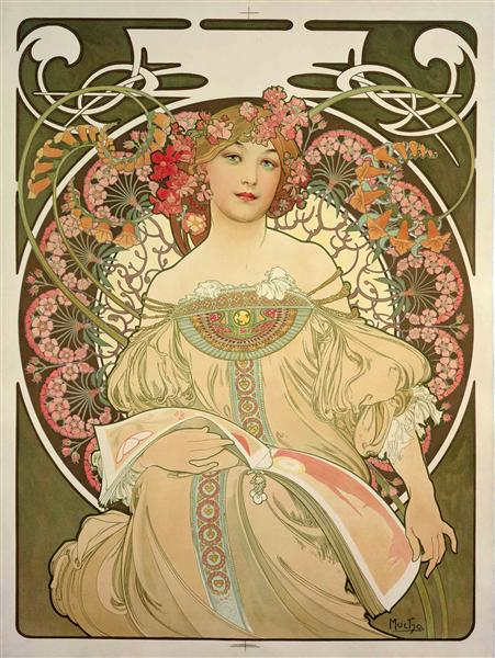 Reverie, 1897 - Alphonse Mucha