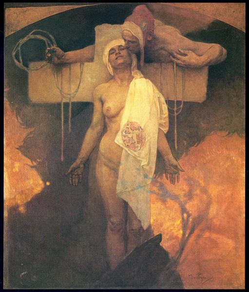 France Embraces Bohemia, c.1918 - Alphonse Mucha