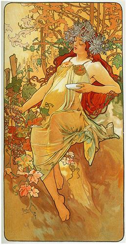 The Autumn - Alphonse Mucha - WikiPaintings.org
