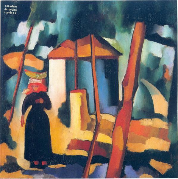 Landscape with black figure, 1915 - Amadeo de Souza-Cardoso