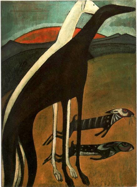 Os galgos, 1911 - Amadeo de Souza-Cardoso