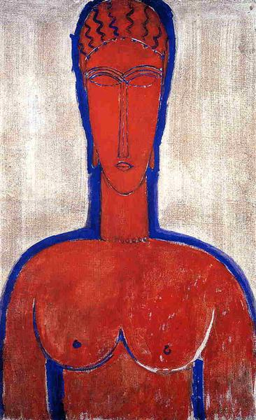Big Red Buste (Leopold II), 1913 - Amedeo Modigliani