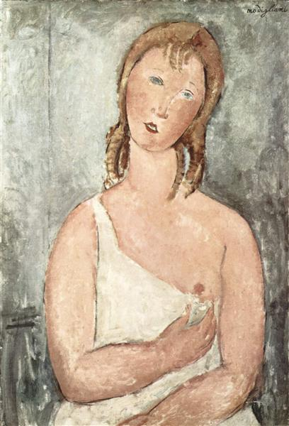 Girl in the shirt (Red-haired girl), 1918 - Amedeo Modigliani