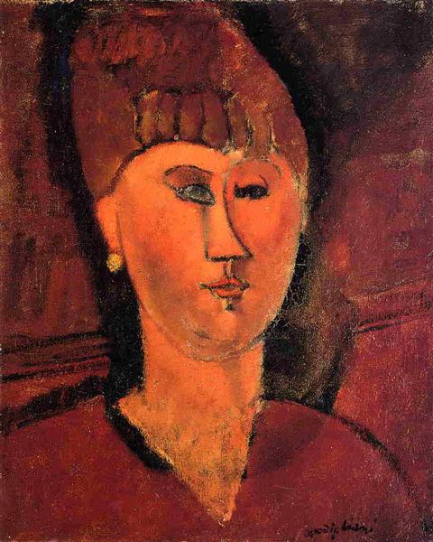Head of Red-haired Woman, 1915 - Amedeo Modigliani